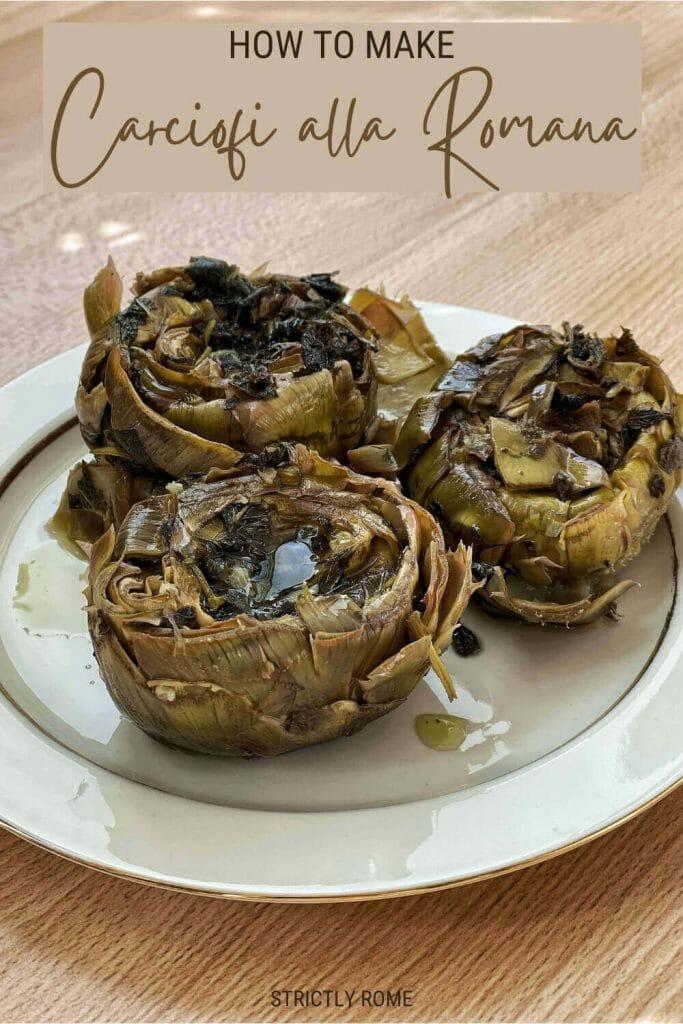 Find out how to make carciofi alla romana - via @strictlyrome
