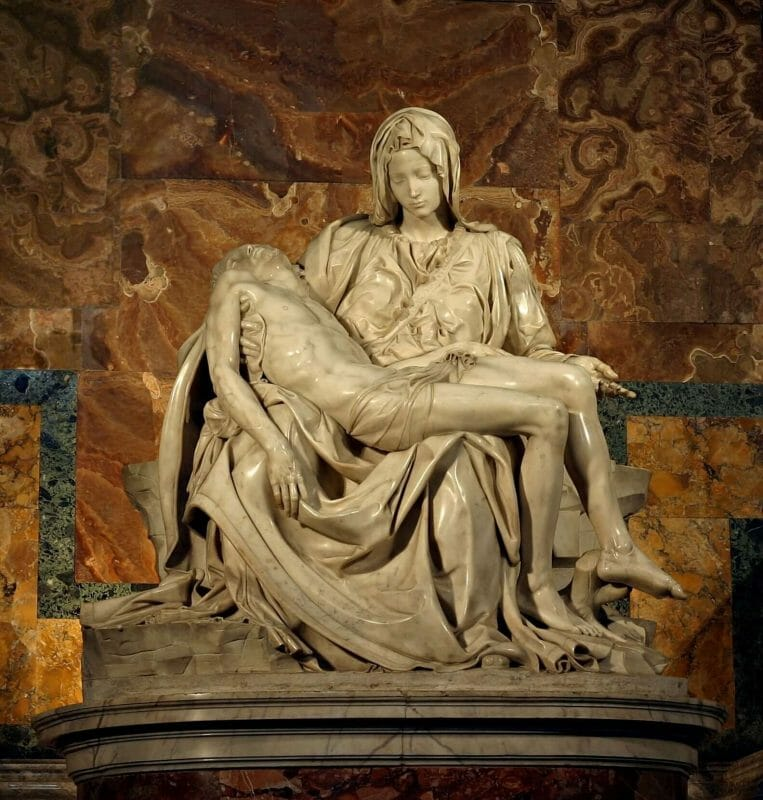 Michelangelo statue in Rome