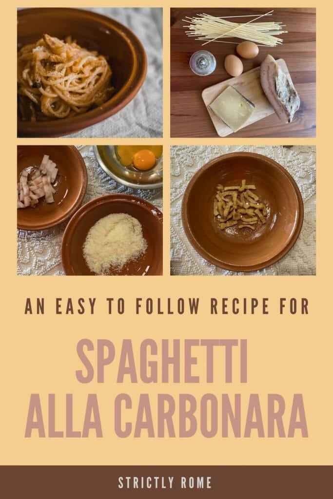 Follow this recipe to make the best spaghetti alla carbonara - via @strictlyrome