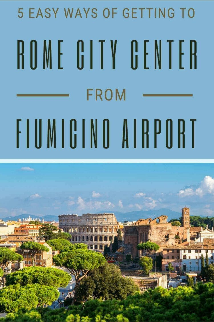 Discover how to get from Fiumicino Airport to Rome City Center - via @strictlyrome