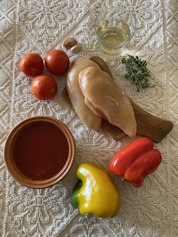 ingredients pollo con peperoni