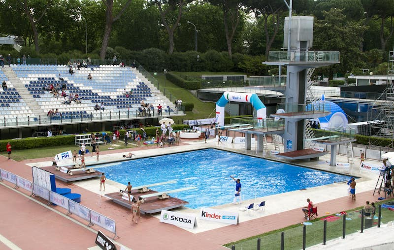 outdoor pools in Rome